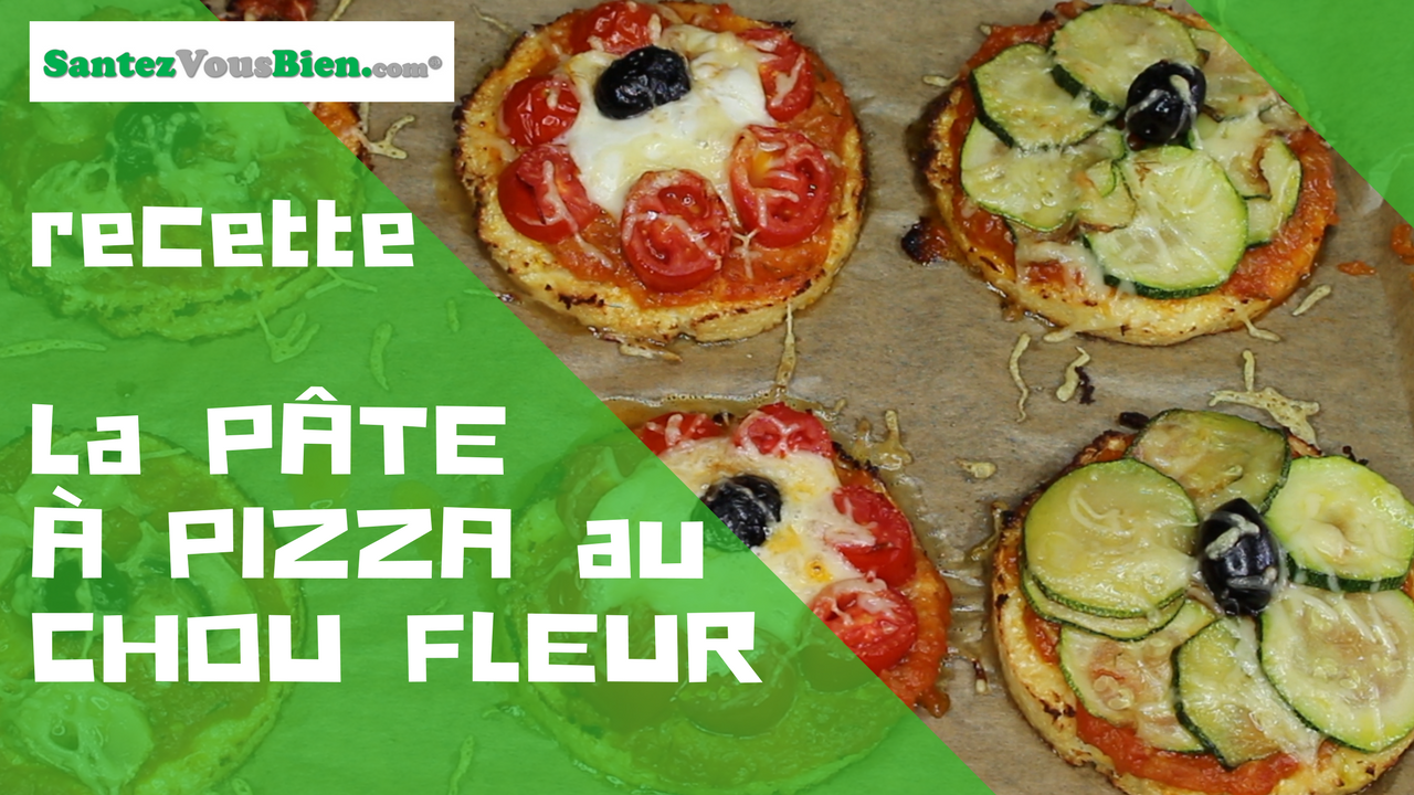 recette la p te pizza au chou fleur santez vous bien. Black Bedroom Furniture Sets. Home Design Ideas